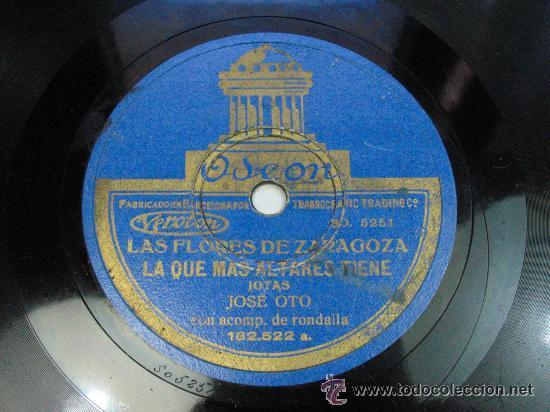 LAS FLORES DE ZARAGOZA LA QUE MAS ALTARES TIENE / LA SAL SE TE VA CAYENDO JOSE OTO CON RONDALLA JOTA (Música - Discos - Pizarra - Flamenco, Canción española y Cuplé)