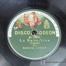 Discos de pizarra: LA BATURRICA JOTA / CONSUELO ( BOLERO). BANDA ODEON. Lote 23282748