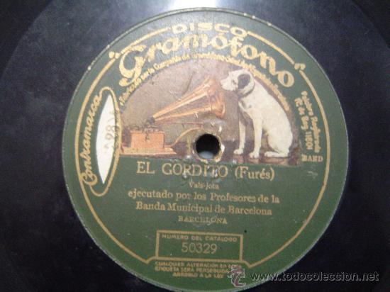 DISCO GRAMOFONO - EL GORDITO (FURES) VALS - JOTA (Música - Discos - Pizarra - Otros estilos)