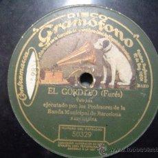 Discos de pizarra: DISCO GRAMOFONO - EL GORDITO (FURES) VALS - JOTA. Lote 26475231