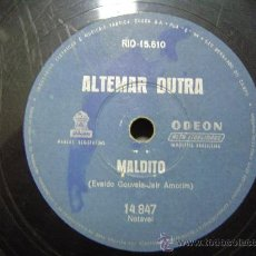 Discos de pizarra: DISCO GRAMOFONO ODEON - MALDITO. Lote 26385213