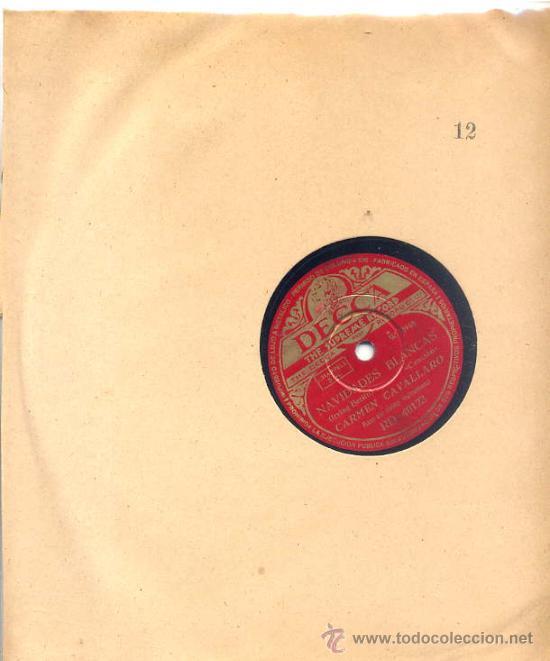 CARMEN CAVALLARO / NAVIDADES BLANCAS / NOCHE SILENCIOSA, NOCHE SANTA (DECCA) (Música - Discos - Pizarra - Solistas Melódicos y Bailables)