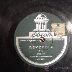 Discos de pizarra: DISCO GRAMOFONO - REVETLLA (SARDANA) - COBLA ELS MONTGRINS. Lote 26702393
