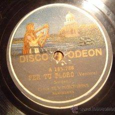 Discos de pizarra: DISCO GRAMOFONO - PER TU PLORO (SARDANA) - COBLA ELS MONTGRINS. Lote 27276664
