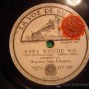 Discos de pizarra: DISCO GRAMOFONO - ESTA NOCHE NO - ORQUESTA DUKE ELLINGTON. Lote 27316142