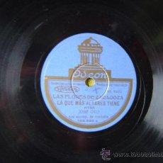 Discos de pizarra: DISCO GRAMOFONO - LAS FLORES DE ZARAGOZA LA QUE MAS ALTARES TIENE -JOTAS- J.OTO, ACOMP. DE RONDALLA. Lote 29071403