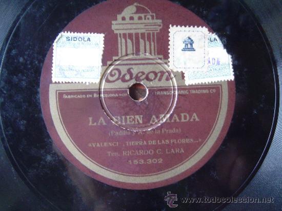 DISCO GRAMOFONO - LA BIEN AMADA - (Música - Discos - Pizarra - Otros estilos)