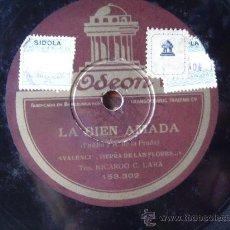 Discos de pizarra: DISCO GRAMOFONO - LA BIEN AMADA -. Lote 26312758
