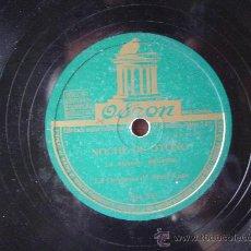 Discos de pizarra: DISCO GRAMOFONO - NOCHE DE OTOÑO (A. ALGUERO) BEGUINE - LA ORQUESTA DE ARTUR KAMPS. Lote 26339533