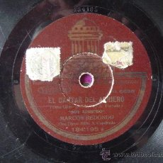 Discos de pizarra: DISCO GRAMOFONO - EL CANTAR DEL ARRIERO -. Lote 26339547