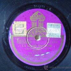 Discos de pizarra: DISCO GRAMOFONO - LA LEGIÓ D'HONOR - SARDANA - TIPLE SOFIA VERGE, TEN. JUAN BARRABES. Lote 26339538