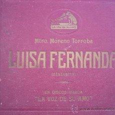 Discos de pizarra: LUISA FERNANDA DISCO DE PIZARRA. Lote 26263944