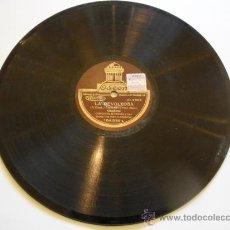 Discos de pizarra: DISCO DE PIZARRA DE LA CASA ODEON - LA REVOLTOSA. Lote 26419486