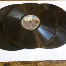 Discos de pizarra: LOTE DE 3 DISCOS DE PIZARRA MARCA ODEON. Lote 26419632