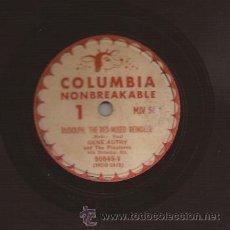 Discos de pizarra: 78 RPM-GENE AUTRY-COLUMBIA 56-USA-DISCO DE NAVIDAD-CHRISTMAS-PIZARRA. Lote 26868710