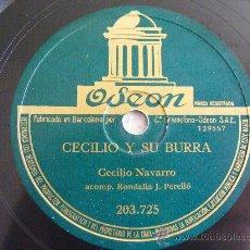 Discos de pizarra: CECILIO NAVARRO Y RONDALLA PERELLO ODEON 203725 78RPM CECILIO Y SU BURRA / JOTAS DE BAILE. Lote 27008817