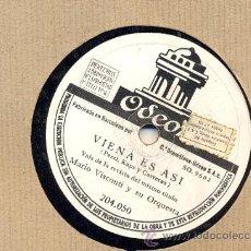 Discos de pizarra: MARIO VISCONTI. VIENA ES ASI + RECUERDAME. Lote 27073183
