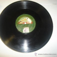 Discos de pizarra: DISCO DE GRAMOFONO. LA VOZ DE SU AMO - THE TRUST DE LOS TENORIOS. Lote 27531703