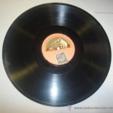 Discos de pizarra: DISCO DE GRAMOFONO. LA VOZ DE SU AMO - AMLETO. Lote 27531866