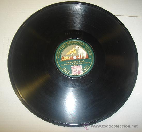DISCO DE GRAMOFONO. LA VOZ DE SU AMO - SERENATA MORISCA (Música - Discos - Pizarra - Otros estilos)