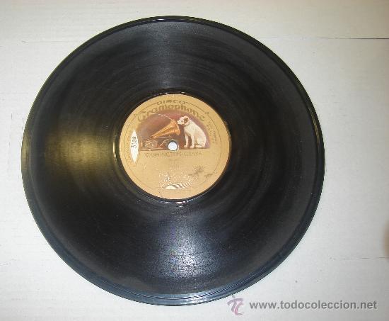 DISCO DE GRAMOFONO. LA VOZ DE SU AMO - WASHINGTON GRAYS (Música - Discos - Pizarra - Otros estilos)