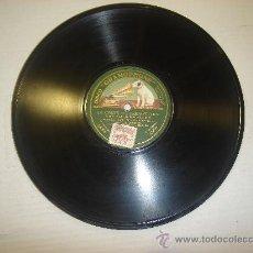 Discos de pizarra: DISCO DE GRAMOFONO. LA VOZ DE SU AMO - LA CORTE DEL FARAON. Lote 27532611