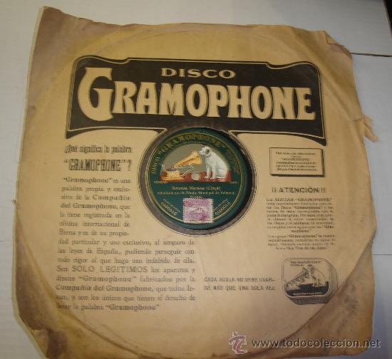 Discos de pizarra: DISCO DE GRAMOFONO. LA VOZ DE SU AMO - SERENATA MORISCA - Foto 2 - 27531878