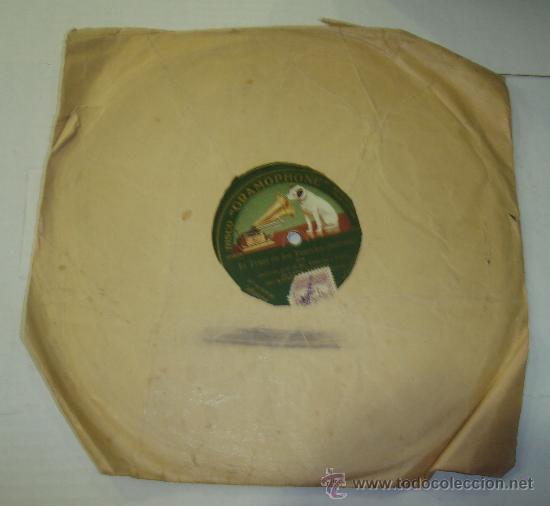 Discos de pizarra: DISCO DE GRAMOFONO. LA VOZ DE SU AMO - THE TRUST DE LOS TENORIOS - Foto 2 - 27531703