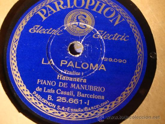 Discos de pizarra: ANTIGUO DISCO DE PIZARRA PARA GRAMOFONO GRAMOLA, - Foto 2 - 27991880