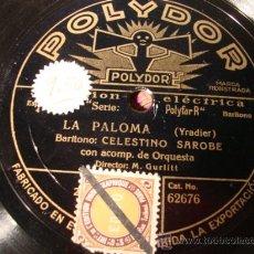 Discos de pizarra: ANTIGUO DISCO DE PIZARRA PARA GRAMOFONO GRAMOLA,. Lote 27991968