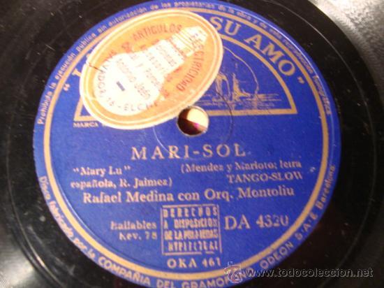 ANTIGUO DISCO DE PIZARRA PARA GRAMOFONO GRAMOLA, (Música - Discos - Pizarra - Flamenco, Canción española y Cuplé)
