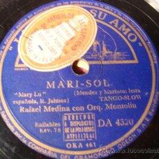 Discos de pizarra: ANTIGUO DISCO DE PIZARRA PARA GRAMOFONO GRAMOLA,. Lote 28009199