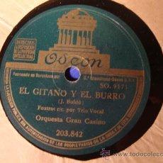 Discos de pizarra: ANTIGUO DISCO DE PIZARRA PARA GRAMOFONO GRAMOLA,. Lote 28009777