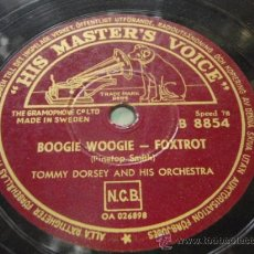 Discos de pizarra: TOMMY DORSEY & HIS ORCHESTRA ( BOOGIE WOOGIE - TIN ROOF BLUES ) SWING MUSIC 1939 SERIES ENGLAND. Lote 191297985