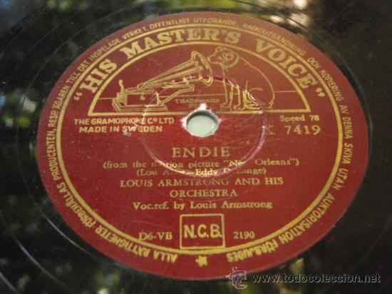 LOUIS ARMSTRONG VOCAL & HIS DIXIELAND SEVEN (ENDIE - DO YOU KNOW WHAT IS MEANS TO MISS NEW ORLEANS) (Música - Discos - Pizarra - Jazz, Blues, R&B, Soul y Gospel)