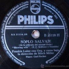 Discos de pizarra: FRANKIE LAINE, SOPLO SALVAJE Y REPONDEME, ESPAÑA, . Lote 28576636