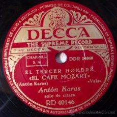Dischi in gommalacca: ANTON KARAS, CAFE MOZART Y HARRY LIME, (B.S.O. EL TERCER HOMBRE), ESPAÑA. Lote 28614405