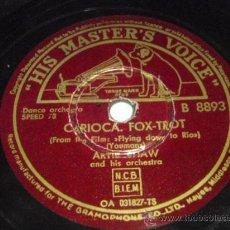 Discos de pizarra: ARTIE SHAW & HIS ORCHESTRA (CARIOCA - THE DONKEY SERENADE) ENGLAND HIS MASTER'S VOICE. Lote 48485796