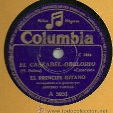 Discos de pizarra: EL PRINCIPE GITANO PIZARRA 78 RPM. DEL SELLO COLUMBIA. Lote 29080265