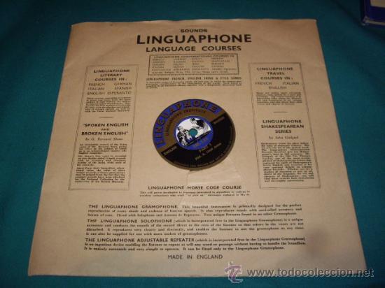 Discos de pizarra: MALETIN CURSO DE INGLES - DISCOS DE PIZARRA - AÑOS 30 - LINGUAPHONE INSTITUTE, LTD.- - Foto 14 - 29181045