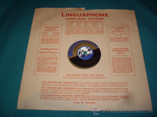 Discos de pizarra: MALETIN CURSO DE INGLES - DISCOS DE PIZARRA - AÑOS 30 - LINGUAPHONE INSTITUTE, LTD.- - Foto 13 - 29181045