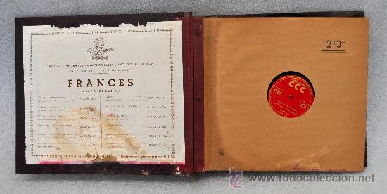 ALBUM CON 10 DISCOS DE PIZARRA EN FRANCES. POLIGLOPHONE CCC (Música - Discos - Pizarra - Otros estilos)