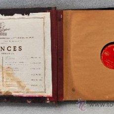 Discos de pizarra: ALBUM CON 10 DISCOS DE PIZARRA EN FRANCES. POLIGLOPHONE CCC. Lote 29717382