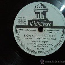 Discos de pizarra: ZARZUELA DON GIL DE ALCALA EN 5 DISCOS DE PIZARRA DE 10 . Lote 29639562