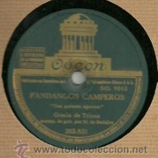 Discos de pizarra: GRACIA DE TRIANA DISCO PIZARRA 78 RPM. DEL SELLO ODEON. Lote 29748750