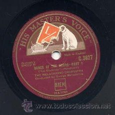 Discos de pizarra: THE MELACHRINO ORCHESTRA / DANCE OF THE HOURS - PART 1 - PART 2 (HIS MASTERS VOICE). Lote 29808943