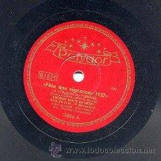 Discos de pizarra: CHOEUR MIXTE DE LUTRY / FETE DES VIGNERONS 1927 (POLYDOR). Lote 29809046