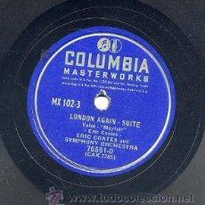 Discos de pizarra: ERIC COATES AND SYMPHONY ORCHESTRA / LONDON AGAIN SUITE (COLUMBIA). Lote 29809124
