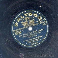 Discos de pizarra: GROSSES OPERETTEN-ORCHESTER / EIN ABEND BEI PAUL LINCKE 1ª Y 2ª PARTE (POLYDOR). Lote 29825434