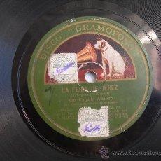 Discos de pizarra: PIZARRA PAQUITA ALFONSO // LA FERIA DE JEREZ - PA C`ABRAS NASIO. Lote 29852397